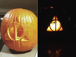 pumpkin ideas carving a deathly hallows pumpkin deathly hallows raising and texas