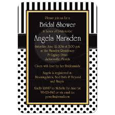 Black Invitation Card Bridal Shower Invitation Black White Yellow Polka Dots U0026 Stripes
