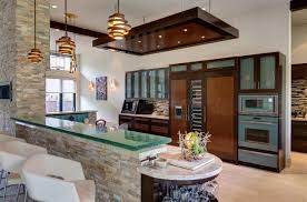 hanging lamps for kitchen simply curved glass dining bar with lovely stools and pendant