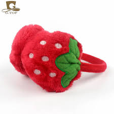 fruit headband 2018 kids winter ear warmers lovely strawberry fruit