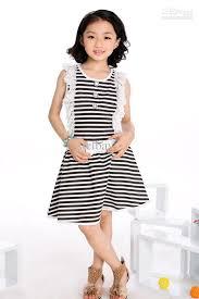 wholesale summer fashion dress little striped dress kids