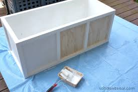 Build Storage Bench Plans by Diy Outdoor Storage Box Bench Sand And Sisal