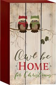 owl be home for owls on branch mittens 8 x