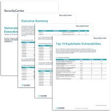 nessus report templates vulnerability top ten executive report sc report template tenable
