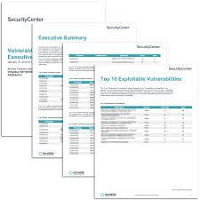 vulnerability top ten executive report sc report template tenable