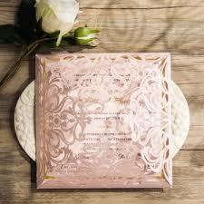 create wedding invitations pink and gold wedding invitations kawaiitheo