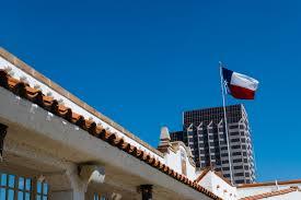 Texas Flag Half Staff Mission Concepcion Wedding St Anthony Hotel Deedra Aarron