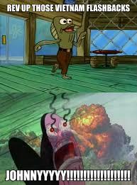 vietnam flashback spongebob war flashback parodies know your meme