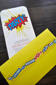 Superhero Invitation Card Make Your Own Envelopes In Any Size U2014 The Asylum