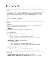 free basic resume templates free simple resume builder collection of solutions simple resume