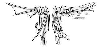 angel beat devil tattoo on shoulder