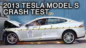 2013 tesla model s frontal crash test by nhtsa youtube