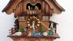 Authentic Cuckoo Clocks Original Black Forest Animated Musical Chalet Cuckoo Clock Youtube