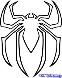 spiderman clipart easy draw pencil color spiderman