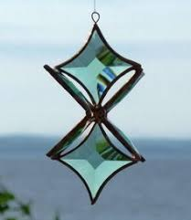 of david beveled glass merkaba 6 pointed stained