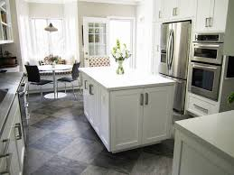 Painted Kitchen Floor Ideas Kitchen Cabinet White Cabinets Cherry Floors Small Modern