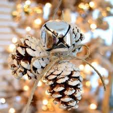 rustic jingle bell pinecone tree ornament fox hollow cottage