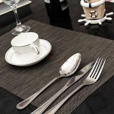 1pcs black non skid placemats insulation mat table protectors