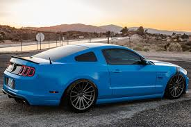 2013 mustang gt blue customer spotlight eric s supercharged 2013 gt americanmuscle