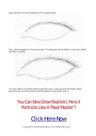 how to draw eyelashes realistic pencil drawing techniques