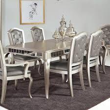 mirror dining room table samuel lawrence diva rectangular leg table w mirrored edging