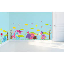Nursery Decals For Walls by Pack Of 4 Unique Colorful Nursery Wall Stickers U2013 So Cute For Boys