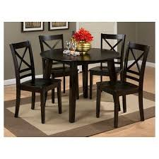 espresso dining table with leaf simplicity x back dining chair espresso set of 2 jofran brown