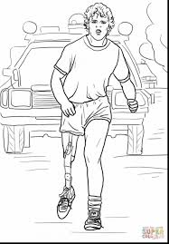 terry fox colouring page funycoloring