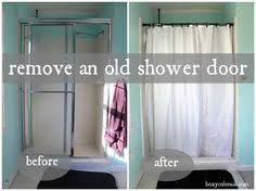 How To Clean Shower Door Tracks Hide Shower Doors Bathroom Pinterest Shower Doors