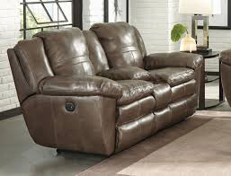 Italian Leather Recliner Sofa Smoke Collection 419 Italian Top Grain Leather With Lay Flat