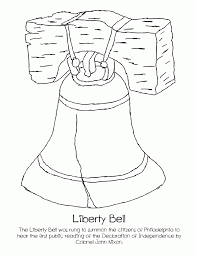 liberty bell coloring page printable kids coloring