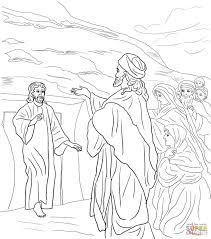 lazarus coloring page jesus raises lazarus from the dead coloring