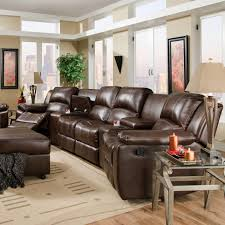 Sectional Sofas With Recliners And Cup Holders Brady Four Seat Reclining Theater Seating With Storage And