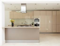 interior simple and clean kitchen cabinet with no handle kitchens