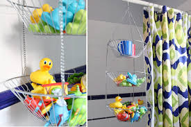 bathroom toy storage ideas hanging fruit basket bath toy storage solution for henderson and