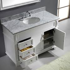 Virtu Bathroom Accessories by Virtu Usa Victoria 48 Single Bathroom Vanity Set In White