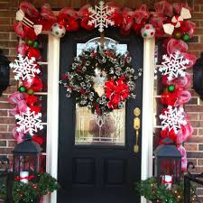 Decoration For Christmas Best 25 Christmas Front Doors Ideas On Pinterest Christmas