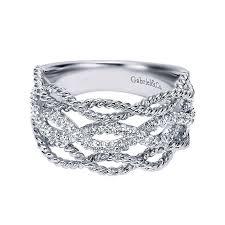 ladies rings diamond images 14k white gold diamond wide band ladies 39 ring diamond bands jpg
