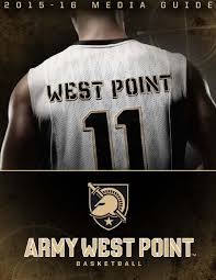 2015 16 army men u0027s basketball media guide by army west point