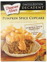 amazon com duncan hines decadent cupcake mix pumpkin spice