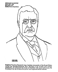 Theodore Roosevelt Children On Pinterest Bully Meaning Theodore Eleanor Roosevelt Coloring Pages