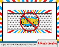 super teacher super hero themed teacher appreciation printables