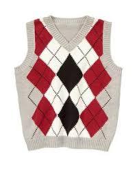argyle sweater vest at 8