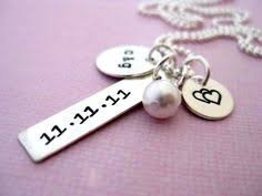 s day necklaces personalized wedding date necklace stuff initial necklaces