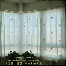 Shabby Chic Balloon Curtains by Adjustable Balloon Shade Crochet Hollow Out Sheer Curtain