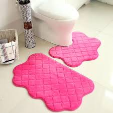 Pink Bathroom Rugs Pink Bathroom Rugs And Mats Set Pink Color New Soft Bath Pedestal