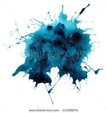 beautiful traced vector watercolor splatter stain stock vector
