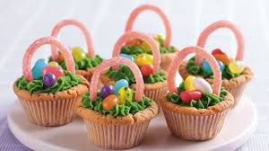 easter basket easter basket cookie cups recipe pillsbury