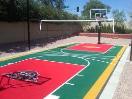 Backyard Basketball Half Court Mark Has Created A Great Stanford Half Court In His Backyard
