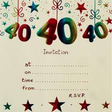 40th birthday party invitations afoodaffair me